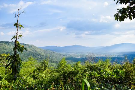 wnc: Mountains on the Blue Ridge Stock Photo