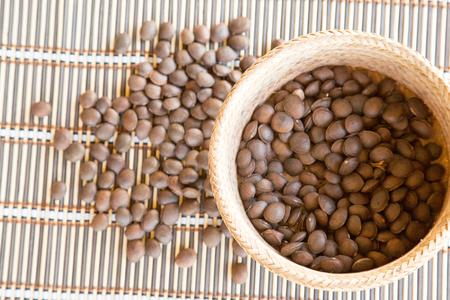 serrated: Image of sacha inchi peanut seed