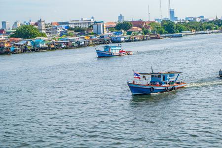 praya: river and boat Stock Photo