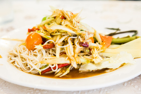 south east asia: A papaya salad is the food of south east asia.