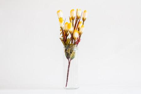 artificial flower: Artificial flower in vase