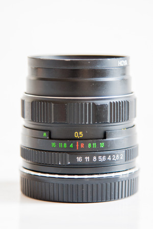 and aperture: aperture ring of camera lens