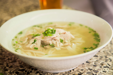 Vietnamese fresh rice noodle soup with beef
