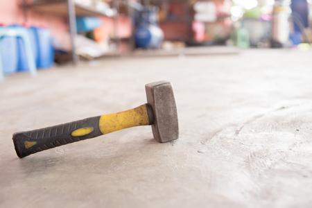 Hammer is in garage