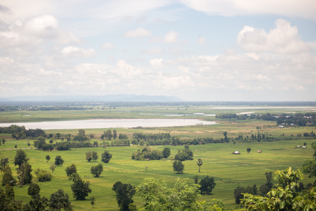 landscape farm with blue sky