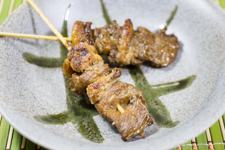 beef barbecue on dish