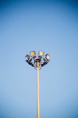 lamp post with sky