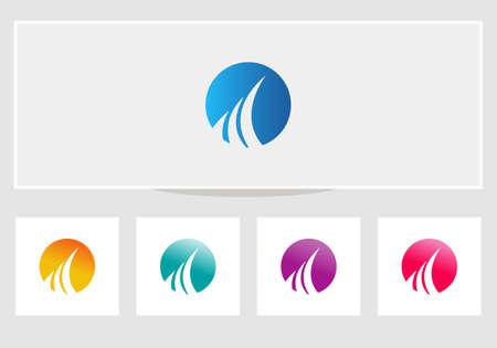 financial logo design. Financial Advisers Logo Design. 向量圖像