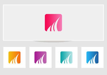 Marketing and financial business logo. Modern logo finance concept
