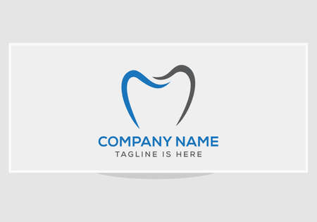 Creative, minimalist dentist logo design template
