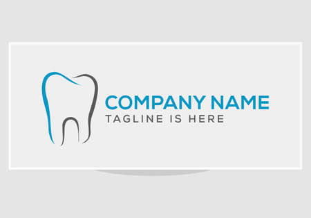 Dental Clinic Logo Tooth with minimal style