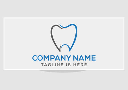 Dentist Dental Dentistry Logo Vector. Dental Dentist Logo