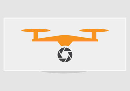 Isolated drone logo collection on white. Aerial photography logo
