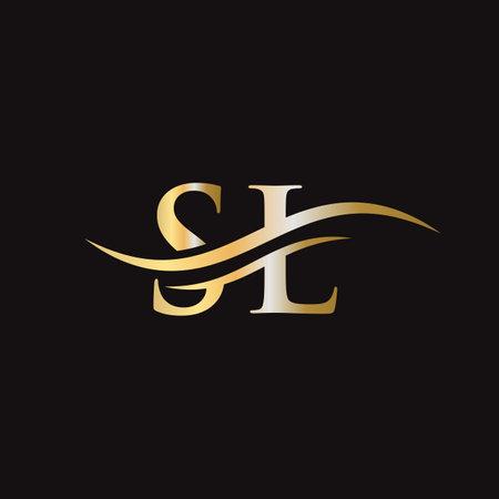 SL letter logo. Initial SL letter business logo design vector template