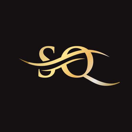 SQ logo design. Initial SQ letter logo design. Logó