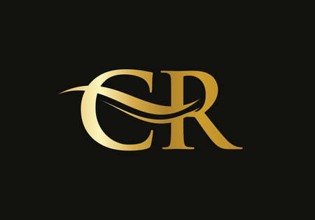 CR Letter Linked Logo for business and company identity. Initial Letter CR Logo Vector Template.
