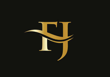 Letter FJ Logo Design for business and company identity. Creative FJ letter with luxury concept
