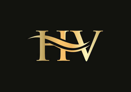 Modern HV logotype for luxury branding. Initial HV letter business logo design vector Logó
