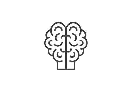 Brain Logo design vector template. Brain Artificial Intelligence Logo design vector.