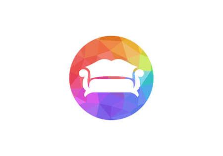 Modern Sofa logo design. Sofa icon vector design