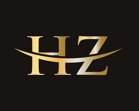 Letter HZ Logo Design for business and company identity. HZ letter logo design vector