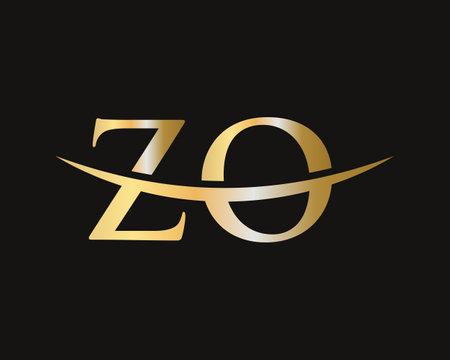 Initial Monogram Letter ZO Logo Design Vector. ZO logo design
