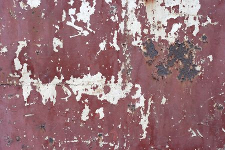 scraped: Scraped matal wall
