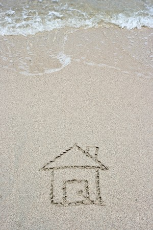 House on sand Stock Photo - 7554110