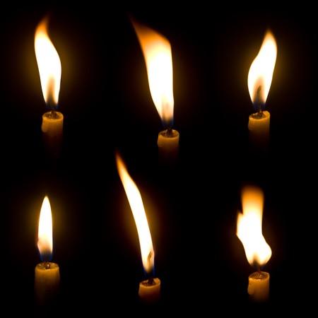 Luz de las velas  Foto de archivo