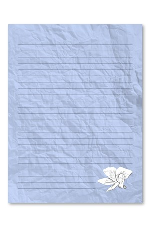 frowzy: Blue note paper Stock Photo