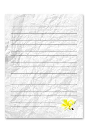 unfurl: White letter paper