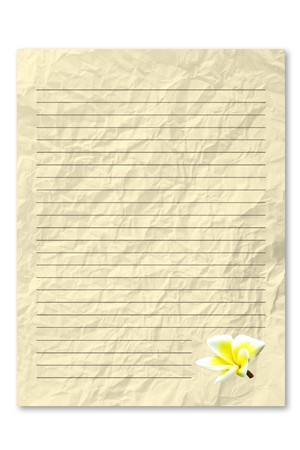frowzy: Yellow letter paper