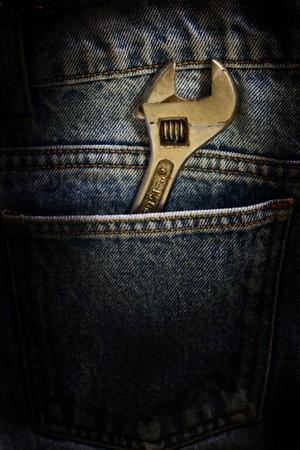 Wrench inside pocket photo