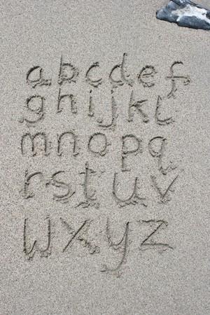 Letter on sand photo