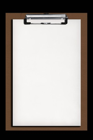New paper on clip board  Stock Photo