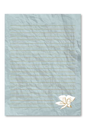 frowzy: Blue note paper on white background