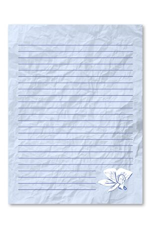 frowzy: Blue Wrecke note paper Stock Photo