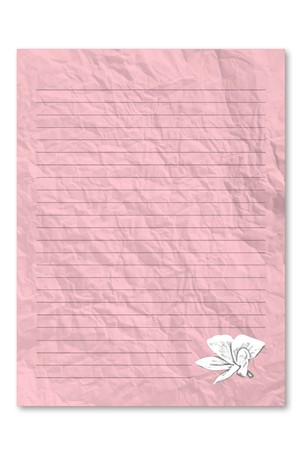 frowzy: Pink letter paper