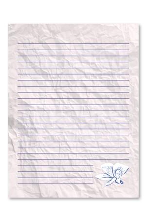 unfurl: Wrecked letter paper
