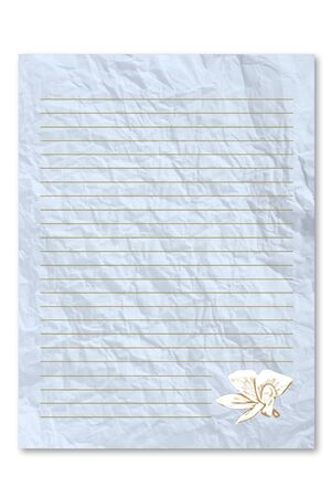frowzy: Blue letter paper Stock Photo