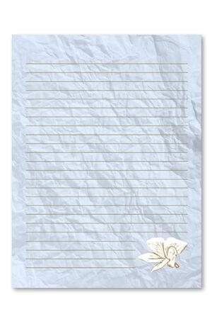 unfurl: Blue letter paper Stock Photo