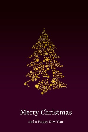 Christmas tree with purple background Stock Photo - 8133359