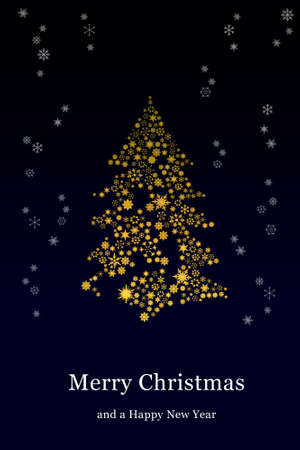 Christmas tree with blue background Stock Photo - 8133304