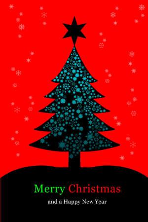 Christmas tree, greeting card Stock Photo - 8133302