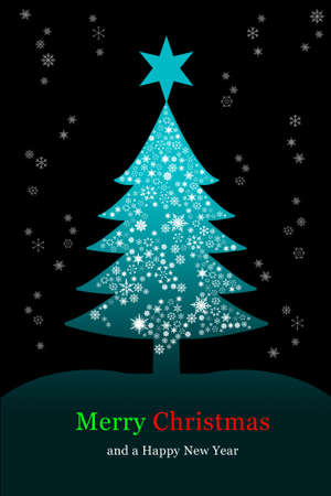 Christmas tree, greeting card Stock Photo - 8133308