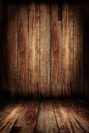 Decorate wood wall and wooden floor