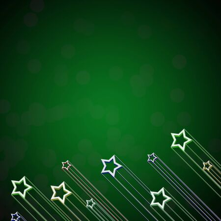 Rising star on green color background photo