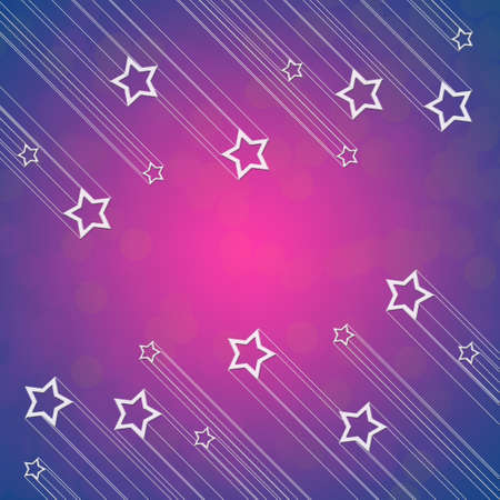 Moving star on pink and blue color background photo