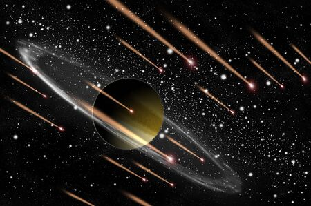 Gas planet and comet