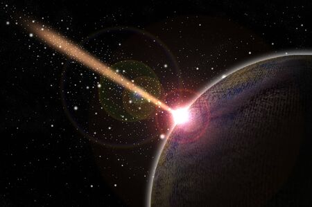 Meteor crash the planet  photo
